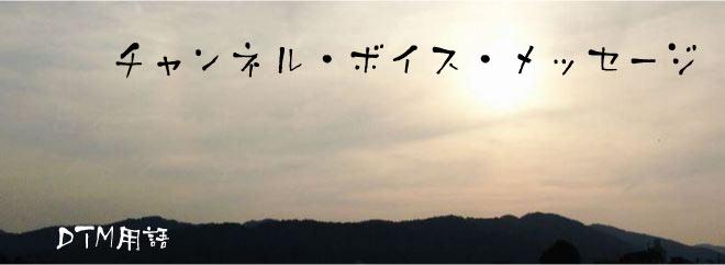 チャンネル・ボイス・メッセージ DTM用語