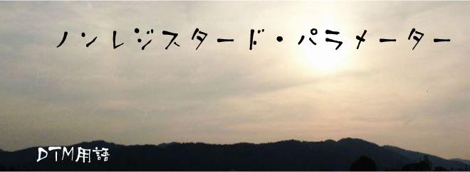 ノンレジスタード・パラメーター DTM用語